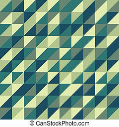 Green geometric pattern, vector illustration