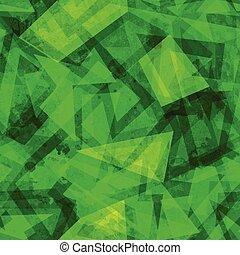 green geometric seamless pattern