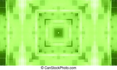 Green geometric VJ looping abstract animated CG background