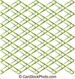 Green geometric white background