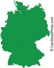 Green Germany map