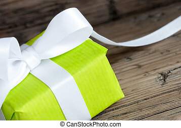 Green Gift Closeup