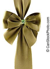 Green gift ribbon bow