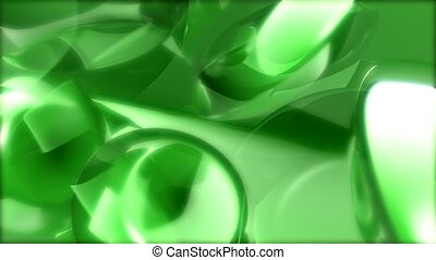 green, glare, reflective