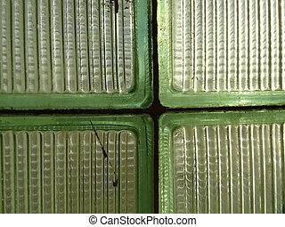 Green Glass Bricks
