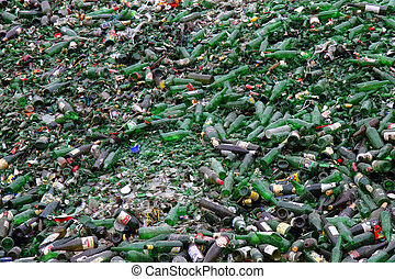 green glass for recycle as background - green glass for...