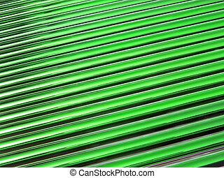 green glass tube heap, solar panel details