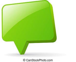 Green glass vector banner
