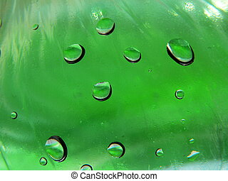 Green glass with drops 2