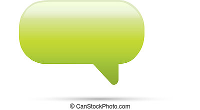 Green glassy empty speech bubble