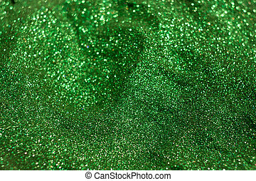 Green glitter for crafts