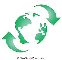 Green global icon
