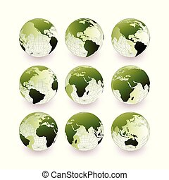 Green globe collection set.