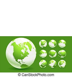 Green Globe Environmental Conservation Background