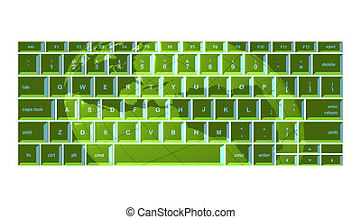 Green globe keyboard
