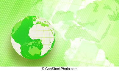 green globe spinning loop
