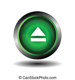 Green glossy button circle web Ejec