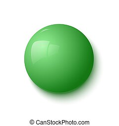 Green glossy button