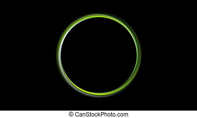 Green glossy circle motion graphic design. Video animation...
