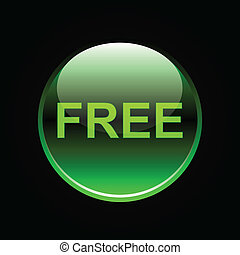 Green glossy free button