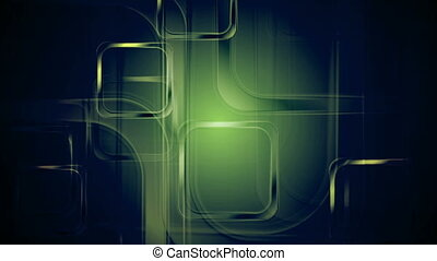 Green glossy squares abstract geometric motion design - Dark...