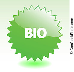 Green glossy vector star element for environment marketing or advertisment. More in my gallery.