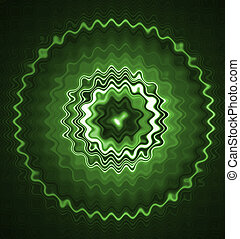 Green glowing abstract background