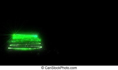 Green Glowing Christmas Tree