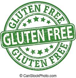 green gluten free round textured rubber stamp