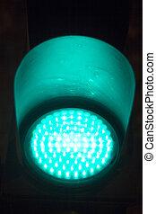 Green go traffic light sign