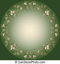 green-gold, 復活節, 框架
