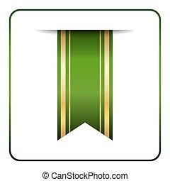 Green gold bookmark banner