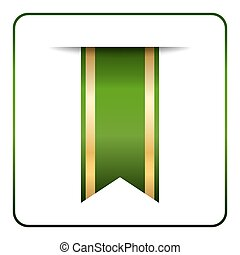 Green gold bookmark