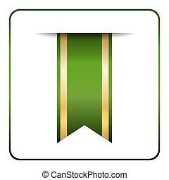 Green gold bookmark