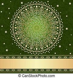Green-gold floral frame