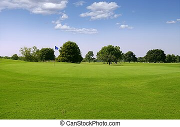 Green Golf grass landscape in Texas leisure sport outdoor