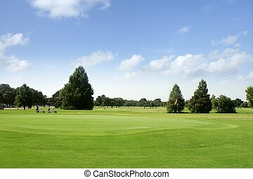Green Golf grass landscape in Texas