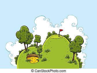 Green Golf Hill