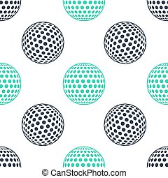 Green Golf icon isolated seamless pattern on white background.  Vector