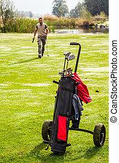 Green golf play