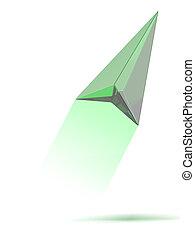 Green gps arrow
