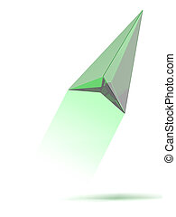 Green gps arrow