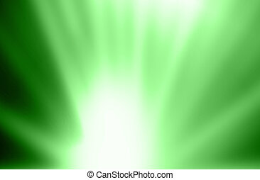 Green gradient blurred abstract background.