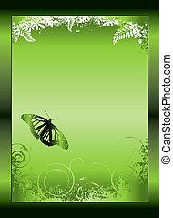 green gradient floral