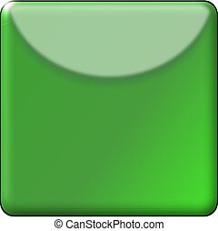 Green Gradient Square Button