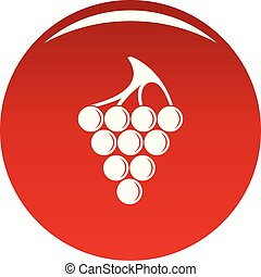 Green grape icon vector red