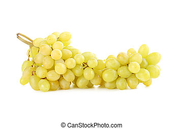 Green grape isolated on a white