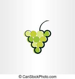 green grape vector icon logo symbol sign