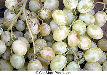 green grapes in a supermarket