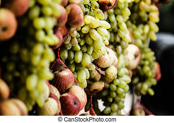 Green grapes in local chile market